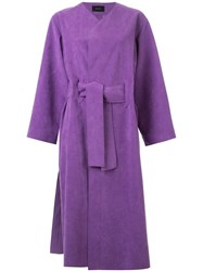 G.V.G.V. Long Belted Coat Pink And Purple