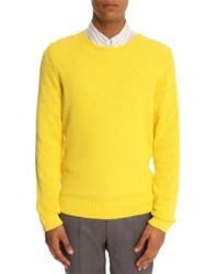 Melindagloss Yellow Sweater With Fancy Sleeve Stitching