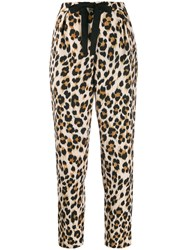 Boutique Moschino Leopard Print Cropped Capri Pants 60