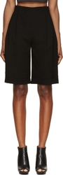 Mcq By Alexander Mcqueen Black Pleated High Waisted Shorts