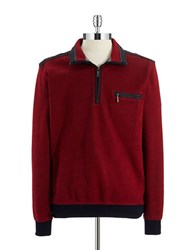 Bugatti Zip Front Sweater Red