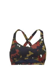 The Upside Jungle Sophie Camoflague Print Sports Bra Camouflage