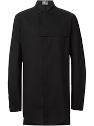 Lost And Found Yoke Detail Shirt Black