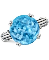 Peter Thomas Roth Blue Topaz Ring 12 Ct. T.W. In Sterling Silver