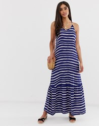 Superdry Evee Stripe Maxi Dress Blue