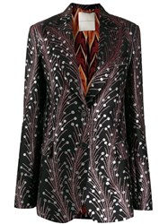 Marco De Vincenzo Embroidered Fitted Blazer Black