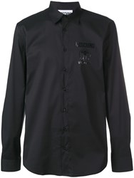 Moschino Logo Print Shirt Black