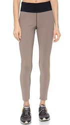 Blue Life Reversible Bonded Leggings Taupe Black