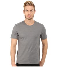 John Varvatos Short Sleeve Knit Crew Neck With Shoulder Seam Details K2429r4b Elephant Men's T Shirt Brown