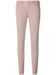 Emporio Armani Mid Rise Skinny Jeans Pink And Purple