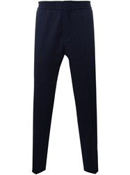Msgm Elastic Waistband Trousers Blue