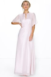 Boohoo Ivy Shimmer Fabric Keyhole Maxi Dress Blush