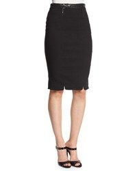 Zac Posen Structured Pencil Skirt Black