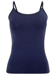Phase Eight Satin Binding Camisole Top Navy