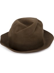 Horisaki Design And Handel Turn Up Brim Hat Brown