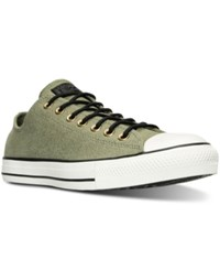 Converse Men's Chuck Taylor All Star Lo Corduroy Casual Sneakers From Finish Line Fatigue Green Egret Black