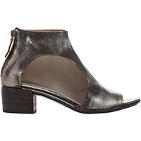 Marsell Women's Cutout Open Toe Ankle Boots Dark Grey