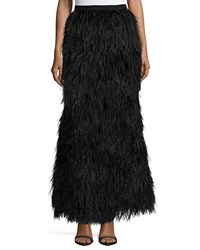 Haute Hippie Feathered Mermaid Skirt Black Women's