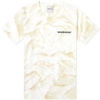Nasaseasons Tie Dyed And Embroidered Tee White