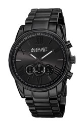 August Steiner Men's Quartz Chronograph Bracelet Watch Black
