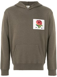 Kent And Curwen Flower Patch Hoodie Green