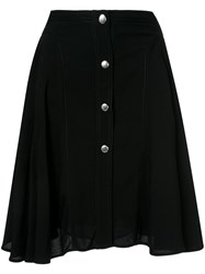 Giambattista Valli Button Up Midi Skirt Black