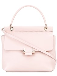Lanvin Top Handle Tote Women Cotton Calf Leather One Size Pink Purple