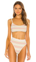 L Space Gemma Bikini Top In Yellow Pink. Bubblegum Pink