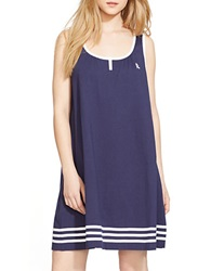 Lauren Ralph Lauren Sleeveless Cotton Nightgown Navy