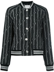 3.1 Phillip Lim Brocade Varsity Bomber Jacket Black