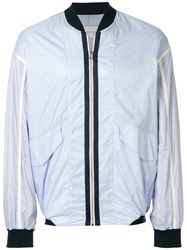 Cedric Charlier Zipped Jacket Blue