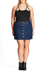 City Chic Plus Size Women's 'Mod' Stretch Denim Skirt