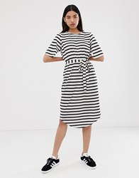 Selected Femme Stripe Midi Dress Multi