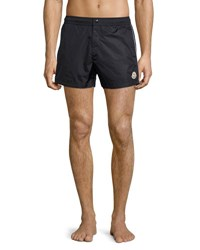 Moncler Swim Trunks With Contrast Piping Navy