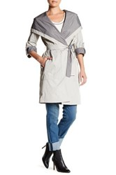 Soia And Kyo Hooded Trench Coat Gray