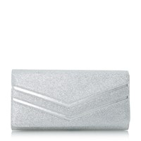 Head Over Heels Basima Mix Material Clutch Silver