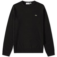 Lacoste Classic Lambswool Crew Knit Black