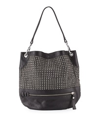 Oryany Faye Chain Weave Hobo Bag Black