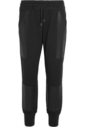 Dkny Printed Cotton Jersey Track Pants Black