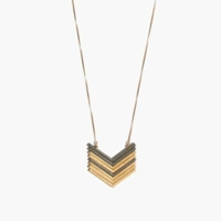 Madewell Arrowstack Necklace Vintage Gold