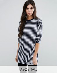 Asos Tall Oversized Striped Long Sleeve T Shirt Multi