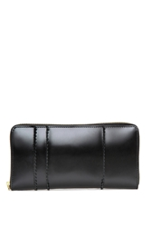 Comme Des Garcons Raised Spike Long Zip Wallet Black