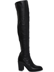 Strategia 80Mm Stretch Leather Over The Knee Boots Black