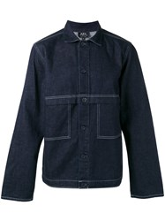 A.P.C. Seaming Detail Denim Jacket Men Cotton Xs Blue