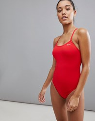 Nike Swim Cut Out One Piece University Red