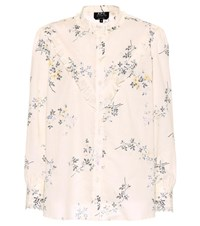 A.P.C. Polly Printed Cotton Top Beige
