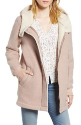 Bcbgeneration Cozy Wool And Fleece Coat Dusty Rose