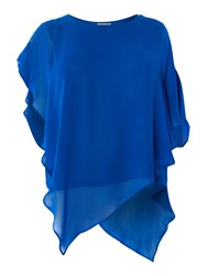 Label Lab Plus Size Blouse With Oversized Sleeves Cobalt