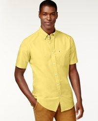 Tommy Hilfiger Maxwell Short Sleeve Button Down Shirt Monroe Yellow