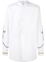 Ports 1961 Embroidered Detail Shirt White